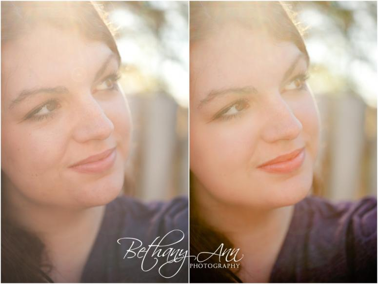 nashville photography  Before & After   Autumn Fall Portrait